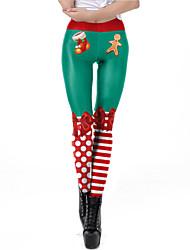 cheap -Santa Suit Pants Women's Adults' Christmas Christmas Christmas Polyester Pants / Lycra Spandex