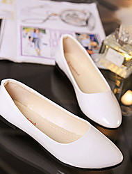 cheap -Women's Loafers & Slip-Ons Flat Heel Pointed Toe PU Summer Black / White / Red