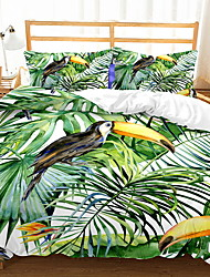 cheap -Duvet Cover Sets Trees / Leaves Polyester / Polyamide Printed 3 PieceBedding Sets