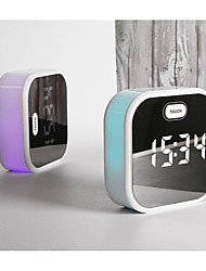 cheap -Mirror alarm clock with electric LCD Digital display with USB charging multifunction table clock