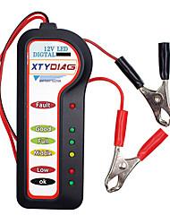 Недорогие -12 В цифровой аккумулятор тестер генератора 6 светодиодные фонари дисплей тормозной жидкости тестер авто диагностика автомобилей для автомобилей мотоцикл