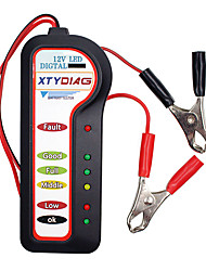 cheap -6 LED Lights Display Digital Battery Alternator Tester For Car Motorcycle Trucks