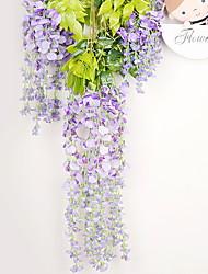abordables -12 pcs fleurs artificielles soie glycine vigne ratta soie suspendus fleur mariage décor à la maison
