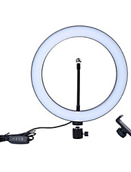 cheap -Photography led self timer ring light 16cm metal dimmable photography / mobile phone ring light with 110 / 160cm tripod for makeup video studio