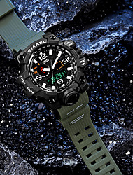cheap -Men's Sport Watch Military Watch Wrist Watch Japanese Digital Silicone Black / Green / Khaki 30 m Water Resistant / Waterproof Alarm Calendar / date / day LED Analog - Digital Vintage Casual Bangle