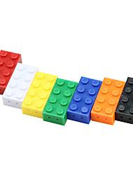 Недорогие -игрушка кирпич флешка 8g флешка красочный 32gb мультфильм мини пластиковый строительный блок pendrive