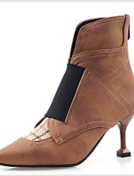 cheap -Women's Boots Stiletto Heel Pointed Toe Booties Ankle Boots Daily PU Black Brown / Booties / Ankle Boots / Booties / Ankle Boots