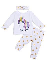 cheap -Baby Girls' Casual / Active Fantastic Beasts Print Print Long Sleeve Long Clothing Set White