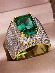 cheap -Women's Band Ring Promise Ring AAA Cubic Zirconia 1pc Turquoise Glass Alloy Cubic Luxury Classic Vintage Wedding Gift Jewelry Vintage Style Lovely / Engagement