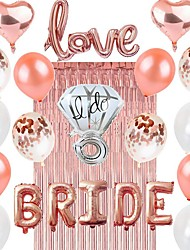 cheap -Birthday Decorations, Rose Gold Birthday Party Decorations Party Supplies Birthday Balloons Confetti with Happy Birthday Balloons Banner for Women Mom