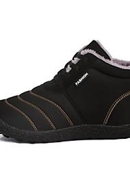 cheap -Men's Comfort Shoes Mesh Fall & Winter Boots Booties / Ankle Boots Black / Blue / Khaki