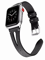 cheap -Watch Band for Apple Watch Series 5/4/3/2/1 Apple Classic Buckle / Business Band Genuine Leather Wrist Strap Hollowing out