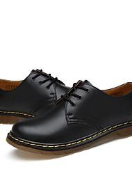 cheap -Men's Comfort Shoes PU Fall & Winter Oxfords Black / Brown / Burgundy