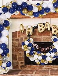 cheap -Gold Balloon Garland Arch Kit,  Navy Blue White Gold Confetti Balloons for Bridal Shower Birthday Party Decorations