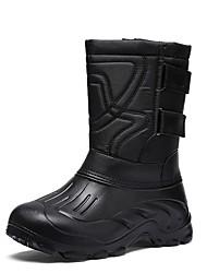 baratos -Homens Sapatos Confortáveis Microfibra Outono & inverno Botas Botas Cano Médio Preto / Marron