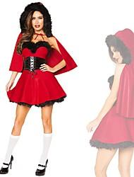 cheap -Mrs.Claus Women's Adults Christmas Christmas Christmas 100% Acrylic Dress / Belt / Cloak