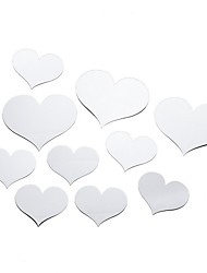 cheap -Decorative Wall Stickers - Mirror Wall Stickers Hearts Indoor
