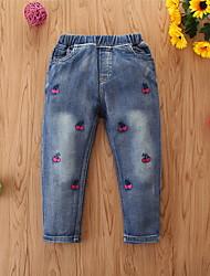 cheap -Toddler Girls' Basic Print Jeans Blue