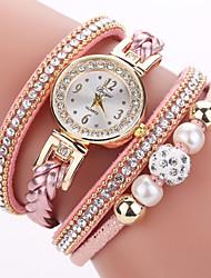 Недорогие -Жен. Часы-браслет Цирконий На каждый день Элегантный стиль Черный Зеленый Розовый Искусственная кожа Китайский Кварцевый Черный Розовый Зеленый Повседневные часы Имитация Алмазный 1 ед. Аналоговый
