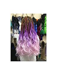 cheap -Wavy Costume Accessories Crochet Hair Braids Natural Color Synthetic Hair Braids Braiding Hair 8pcs