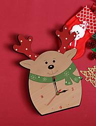 cheap -Popular creative cartoon christmas wall clock living room home decoration Christmas elk decoration clock