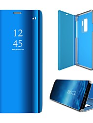 Недорогие -Премиум прозрачный чехол Smart View для Samsung S10 5G S10E S9 плюс Note10 Note 10Pro Note9 Note8 S7 край a50a70a80a90флип кожаный чехол для зеркала 360 ударопрочный Coque