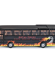 cheap -Kid's Alloy Colorful Bus Model Toy (6pcs)