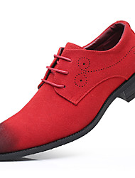 cheap -Men's Formal Shoes Suede Spring & Summer / Fall & Winter Business / Casual Oxfords Walking Shoes Breathable Black / Red / Blue / Party & Evening