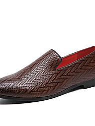 cheap -Men's Formal Shoes Synthetics Spring & Summer / Fall & Winter Casual / British Loafers & Slip-Ons Non-slipping Black / Brown / Wine