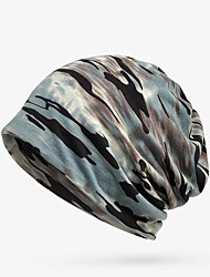 cheap -headwear running cap men's women's thermal / warm windproof breathable for running fitness jogging camouflage cotton autumn / fall spring winter