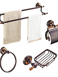 cheap -Bathroom Accessory Set Multifunction Modern Brass 3pcs - Bathroom Wall Mounted