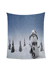 cheap -On the Right Side of the Snowman Hot Foreign Trade Blanket Ready Made Winter Thickened Warm Coral Throw Blanket