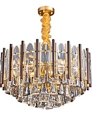 cheap -11 Bulbs QIHengZhaoMing 60 cm Chandelier Metal Electroplated Modern 110-120V / 220-240V