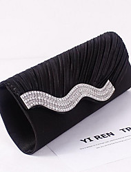 cheap -Women's Sequin / Glitter Polyester Evening Bag Solid Color Black / Sillver Gray / White