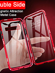 cheap -Magnetic Case For Samsung Galaxy Note10 Note9 Note8 Case Flip Double Sided Magnetic Case Transparent Tempered Glass Metal Magnetic Case for Samsung Note10Plus Note10Pro