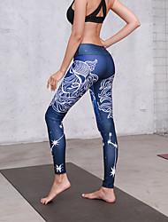 cheap -Women's Yoga Pants Winter 3D Print White Purple Royal Blue Blue Grey Running Fitness Gym Workout Tights Leggings Sport Activewear Butt Lift Tummy Control Power Flex High Elasticity Skinny