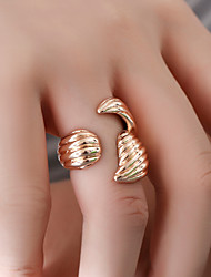 cheap -Women's Ring Open Ring Gold Silver Alloy Gift Daily Jewelry