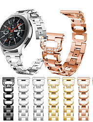 cheap -Smartwatch Band for Samsung Galaxy 46 / Gear S3 /S3 classic /S3 Frontier / Gear 2 R380/ 2 Neo R381/ sport Band  High-end Fashion Jewelry Design Stainless Steel Wrist Strap22mm