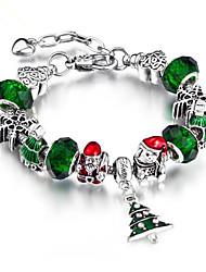 cheap -Women's Chain Bracelet Geometrical Christmas Tree Fashion Rhinestone Bracelet Jewelry Clover For Daily Work