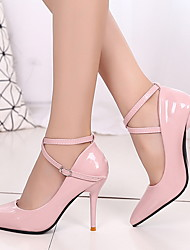 cheap -Women's Heels Stiletto Heel Pointed Toe PU Booties / Ankle Boots Winter Red / Daily