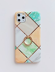 cheap -Case for Apple scene map iPhone 11 11 Pro 11 Pro Max X XS XR XS Max 8 Spliced marble pattern plating TPU material IMD process ring bracket all-inclusive mobile phone case