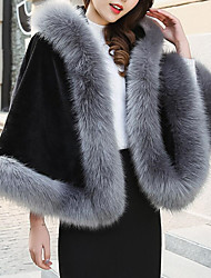 cheap -Sleeveless Capes Rabbit Fur / Faux Fur / Fox Fur Wedding / Party / Evening Women's Wrap With Cap / Fur