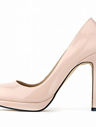 cheap -Women's Heels Stiletto Heel Round Toe Patent Leather Minimalism Walking Shoes Spring &  Fall / Spring & Summer Black / Light Blue / Nude