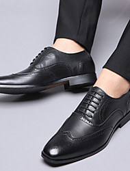 cheap -Men's Formal Shoes PU Spring & Summer / Fall & Winter Business / Vintage Oxfords Breathable Gradient Black / Brown / Yellow / Party & Evening
