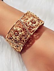 cheap -Women's Bracelet Geometrical Flower Artistic Baroque Boho Elegant Africa Alloy Bracelet Jewelry Gold For Wedding Party Prom Club Festival
