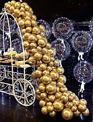 abordables -métallique chromé hélium latex brillant épaissir ballon décoration parfaite pour mariage anniversaire bébé douche graduation carnaval de noël fournitures de fête or