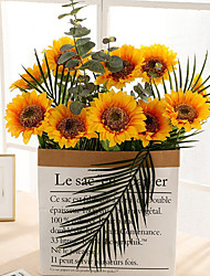 cheap -1pcs Simulation Sunflower Sun Flower Home Decoration Vase Flower Arrangement Prop 45cm