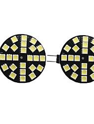 cheap -2pcs 4 W LED Bi-pin Lights 400 lm G4 24 LED Beads SMD 5050 Warm White Natural White White 9-30 V