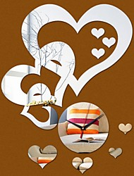 Недорогие -DIY стены акриловые сердце часы наклейки на стены, современные акриловые зеркальная поверхность 3d простой большой размер декор стен часы номера наклейки для гостиной спальня тв украшения стены