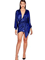 cheap -Women's Bodycon Dress - Solid Colored Purple Gold Silver XS S M L